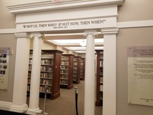 Entrance to the Civil Rights Collection. Libraries embolden with knowledge to stand tall and be counted.