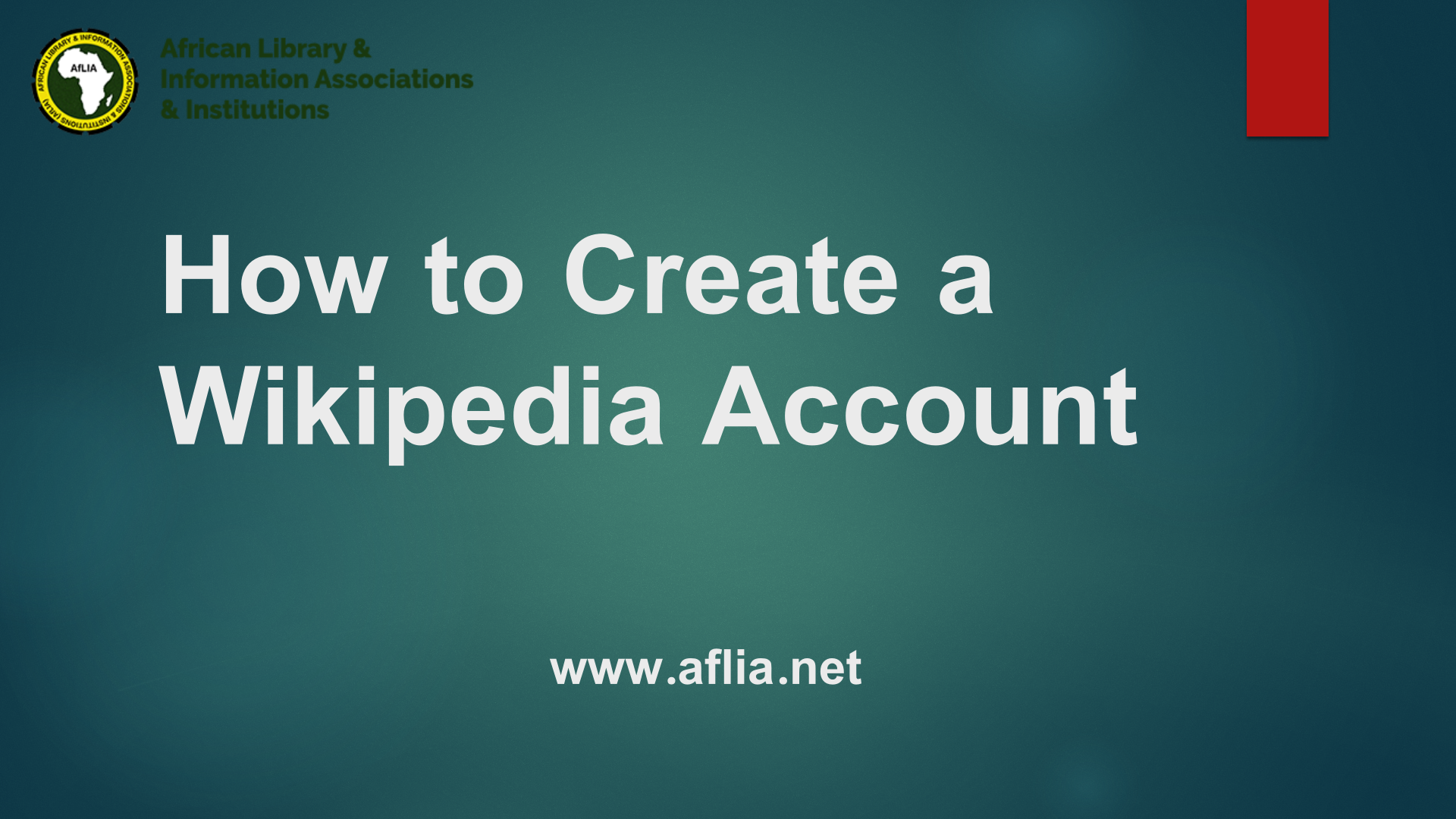How to create a Wikipedia Account